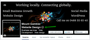 MG Website Design Facebook page verified