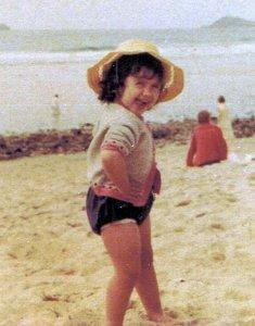 Karen posing at an early age