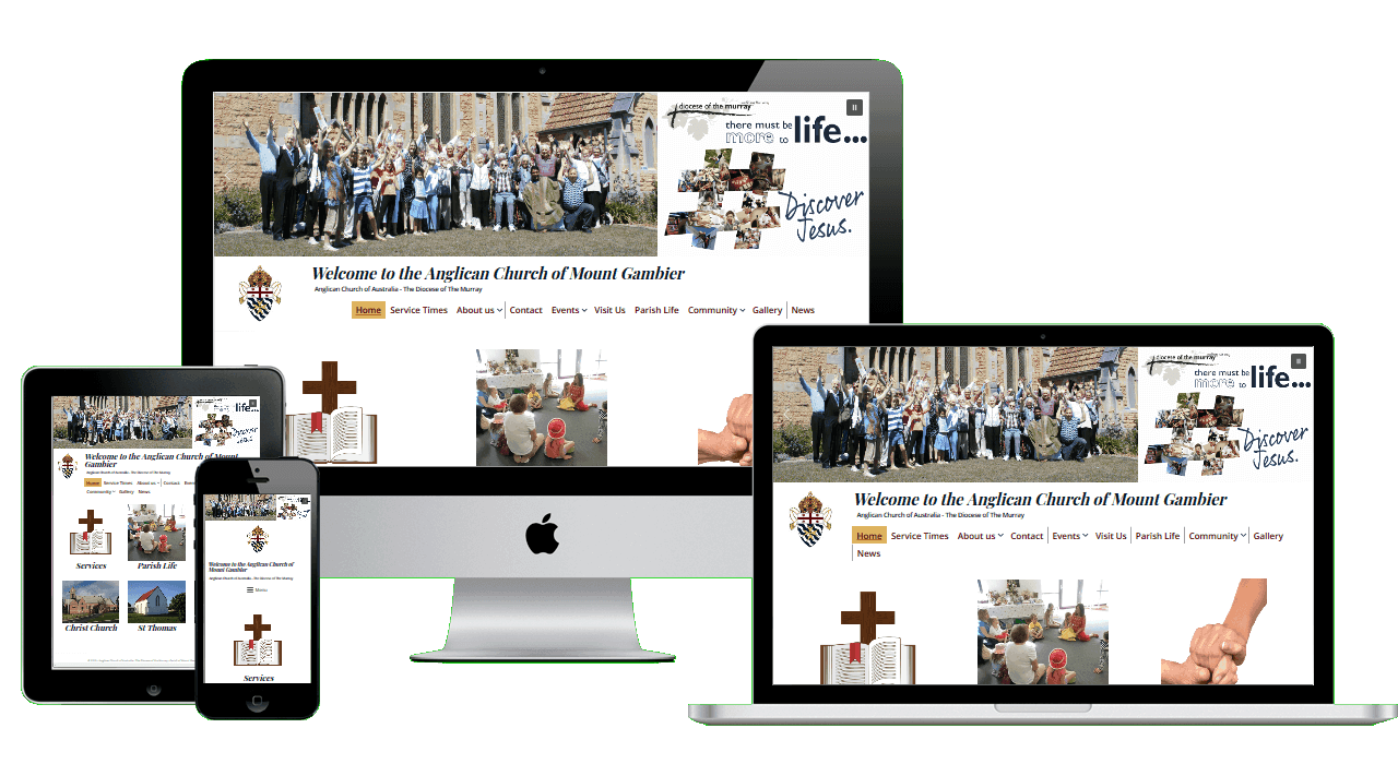 Anglican Church Mount Gambier WordPress website