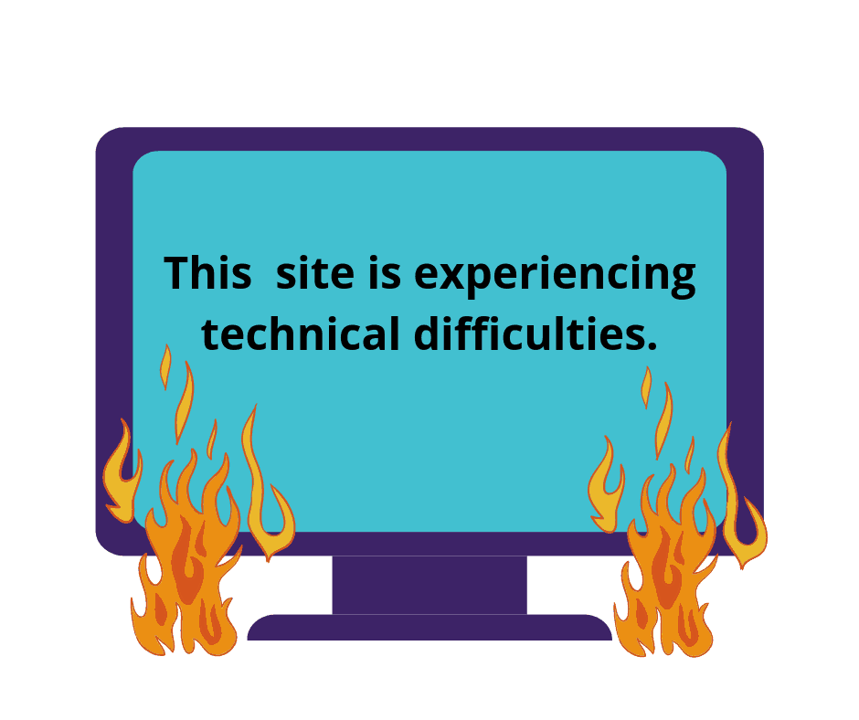 technical difficulties - WordPress website maintenance