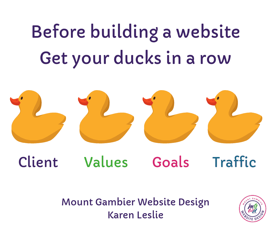 website design ducks in a row