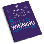 5 Steps To A Winning Website Project E-book Coverpurple