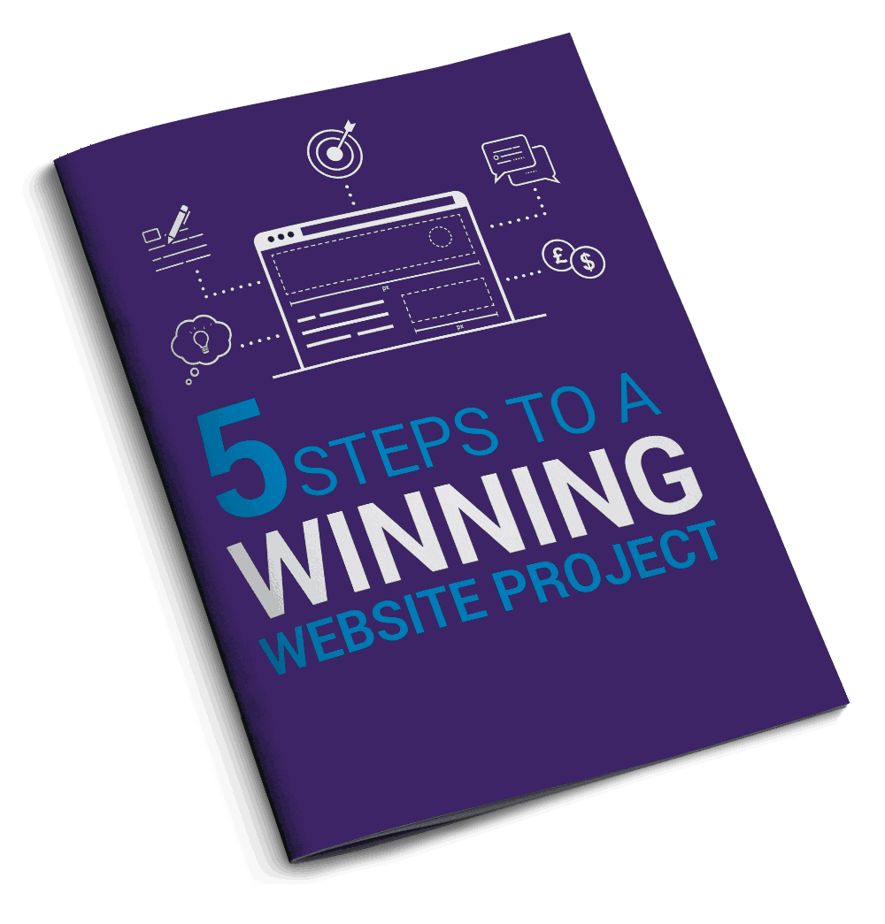 5 Steps To A Winning Website Project E-book Coverpurple